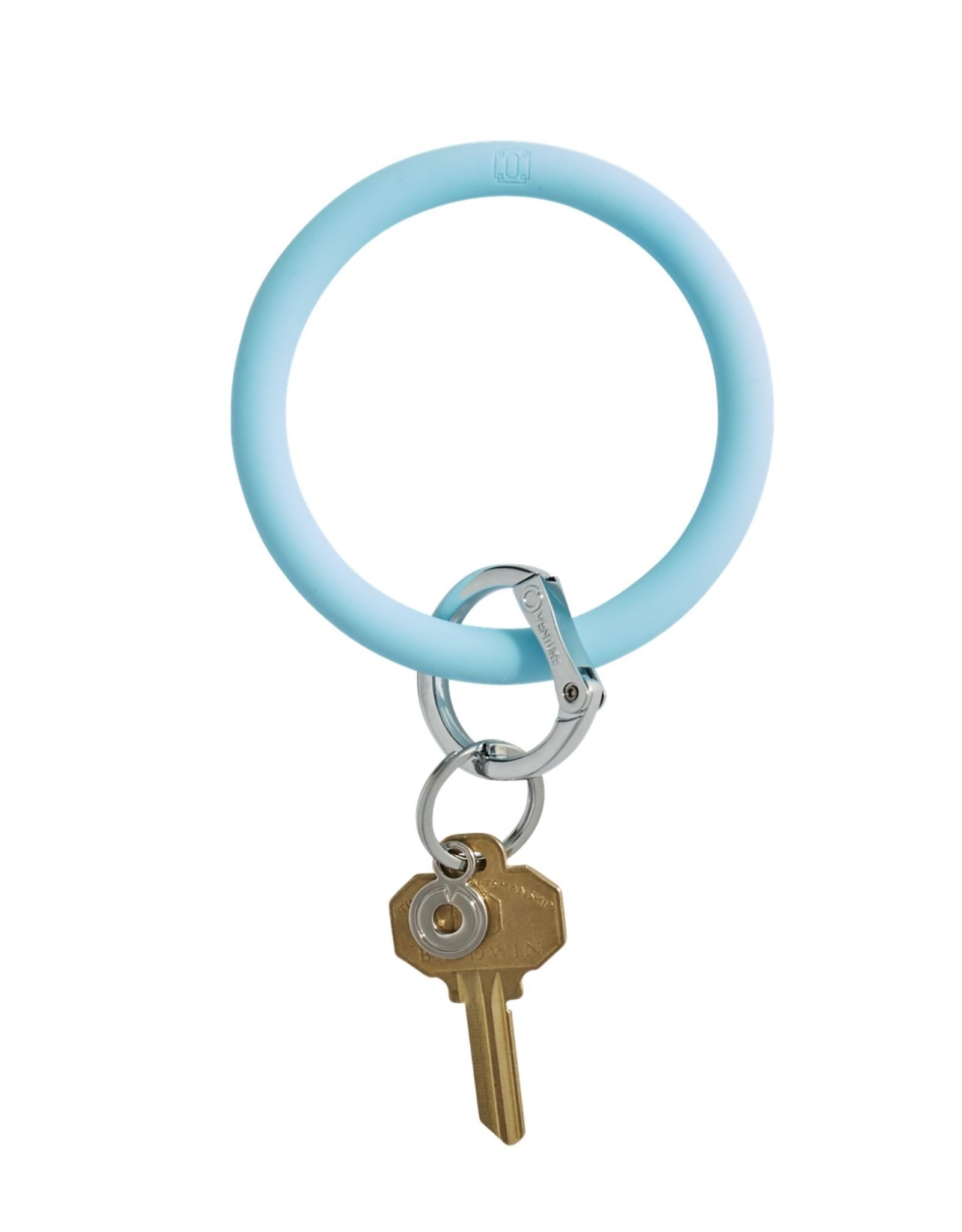 Big O Key Ring sweet carolina blue silicone