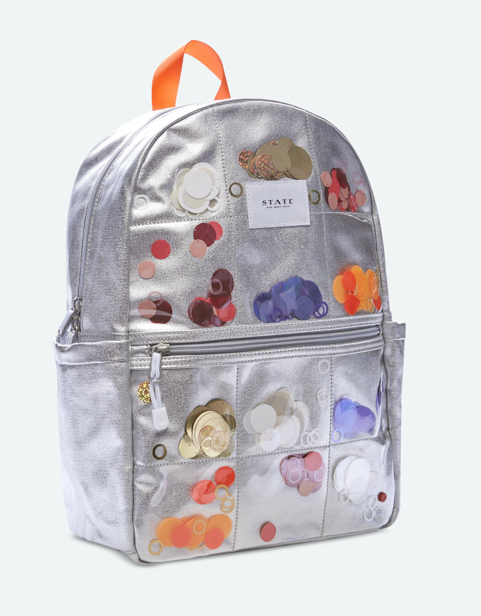 State Bags kane multi sequins- silver