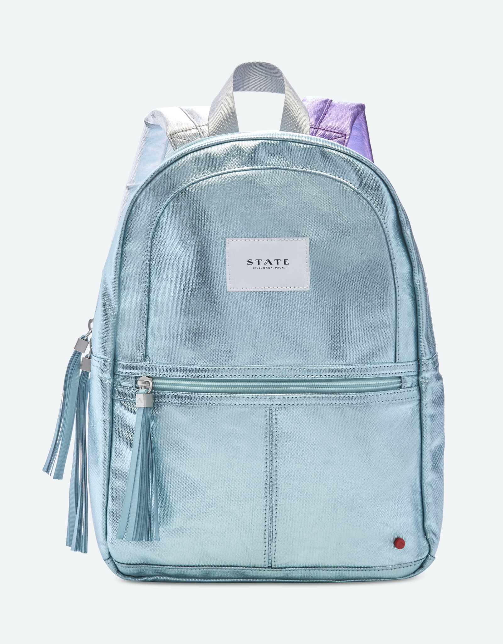 State Bags mini kane metallic- mint multi