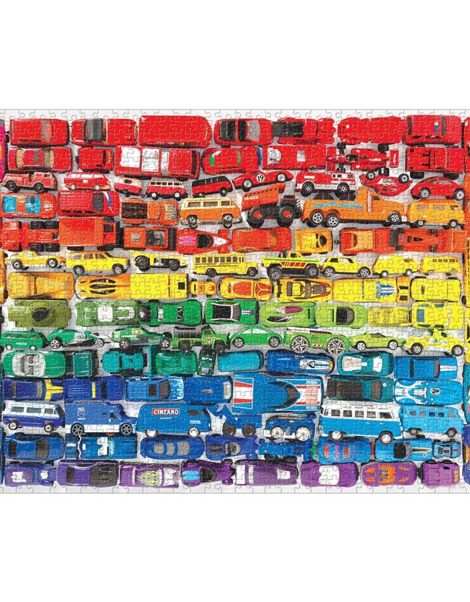 Chronicle Books rainbow toy cars puzzle