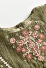 Louise Misha flavia dress- olive velvet