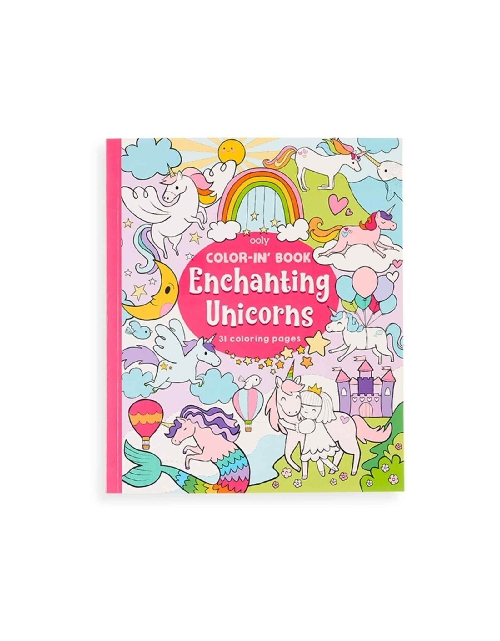OOLY enchanting unicorns color-in' book