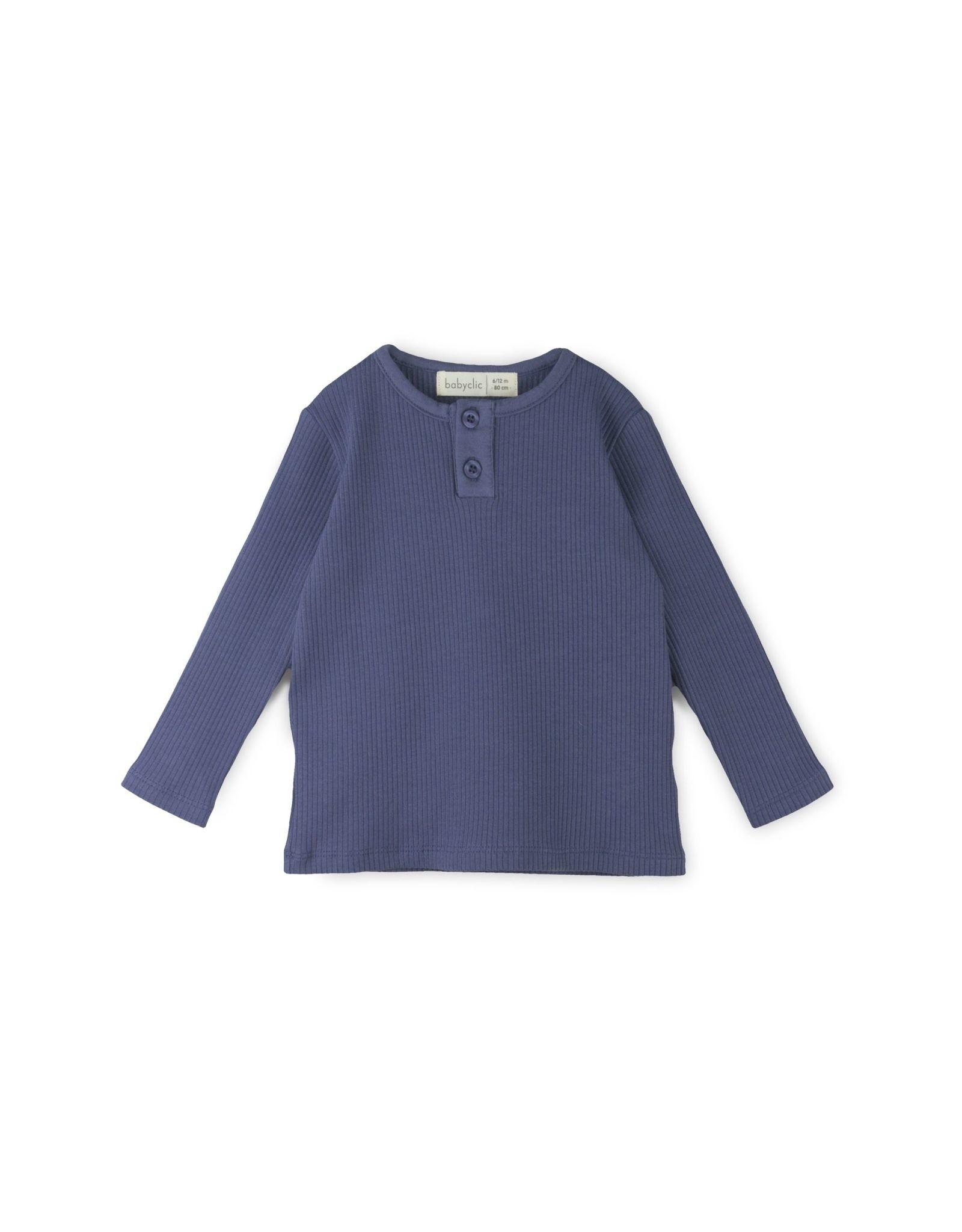 BabyClic rib t-shirt- colbalt
