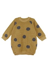 BabyClic geo dress- mustard