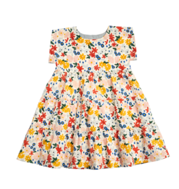 Pink Chicken peachy dress- floral