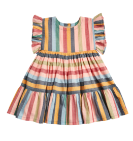 Pink Chicken kit dress- multi stripe