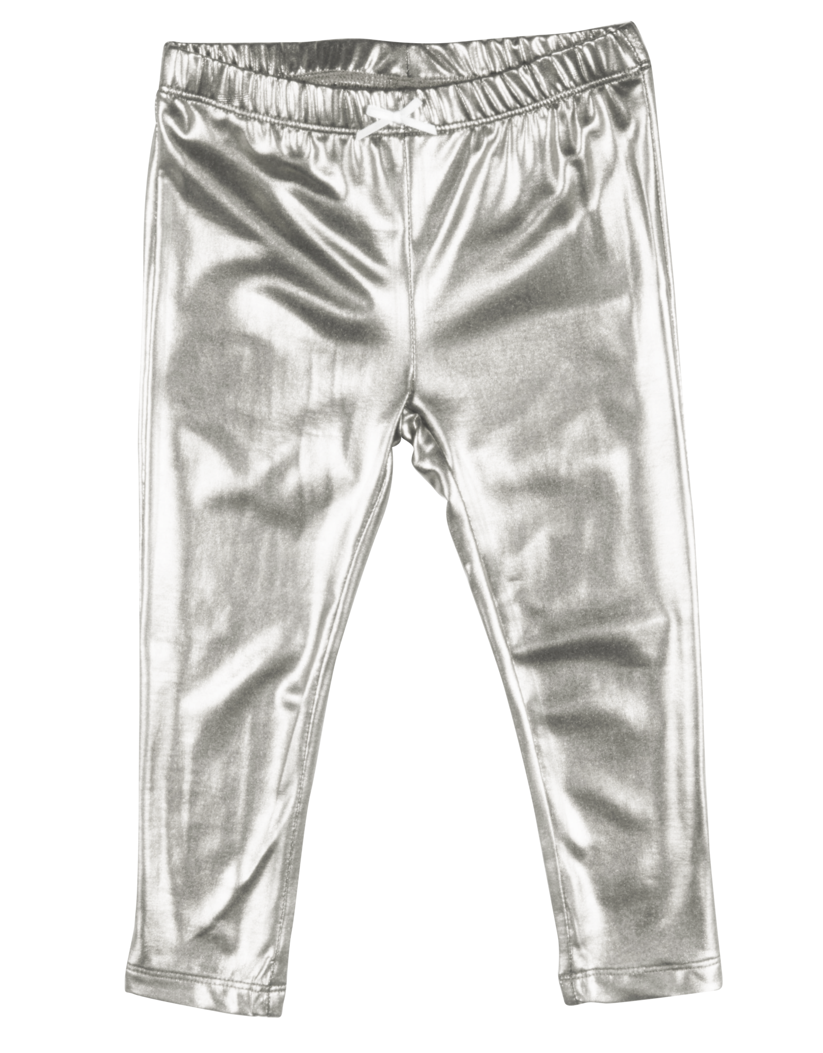 Pink Chicken lame legging- silver