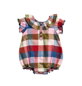 Pink Chicken maggie bubble- multi gingham