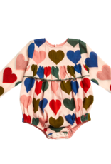Pink Chicken frances bubble- multi hearts