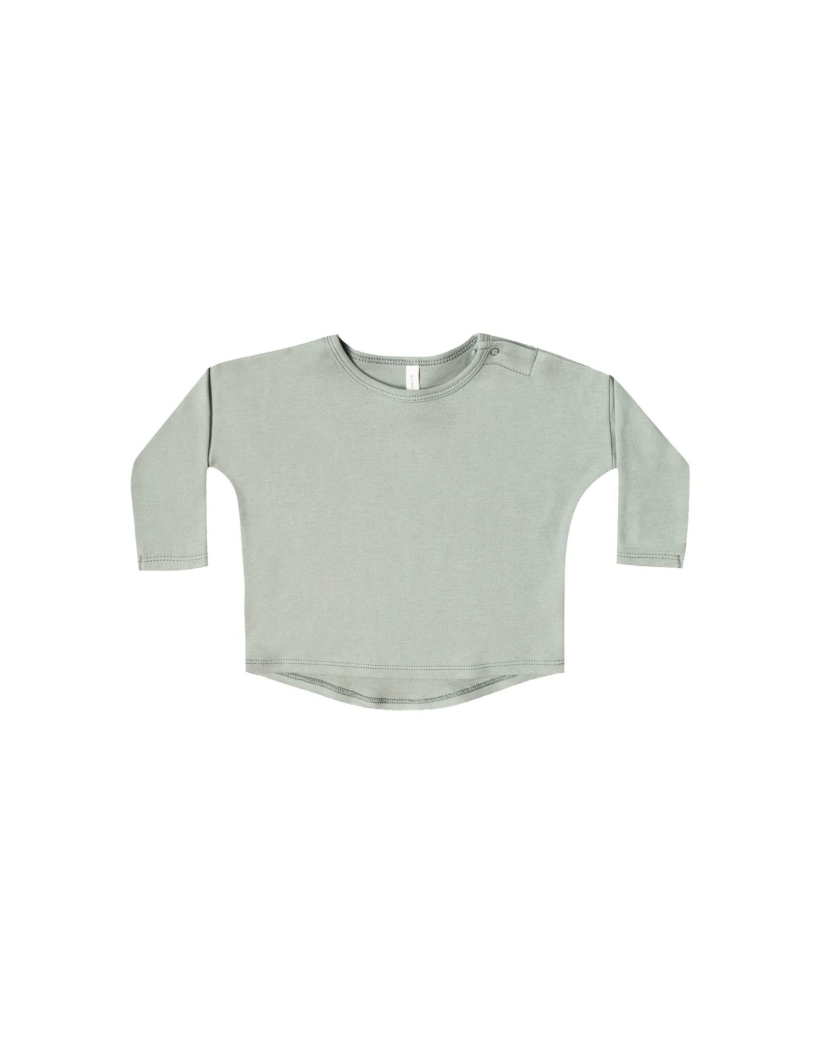 Quincy Mae l/s baby tee- sage