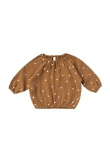 Quincy Mae cinch l/s tee- walnut dots