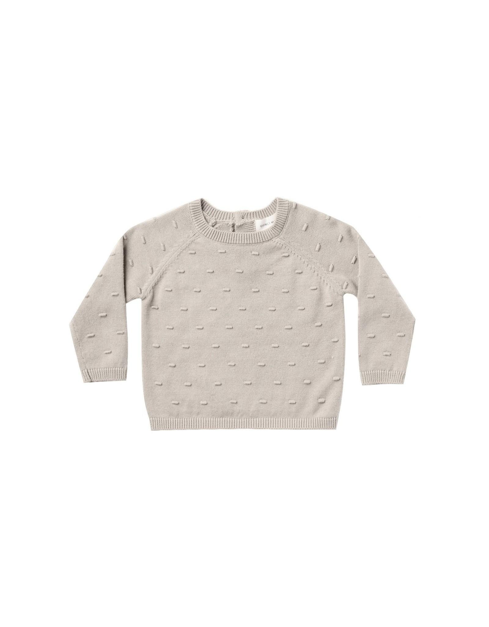 Quincy Mae bailey knit sweater- fog