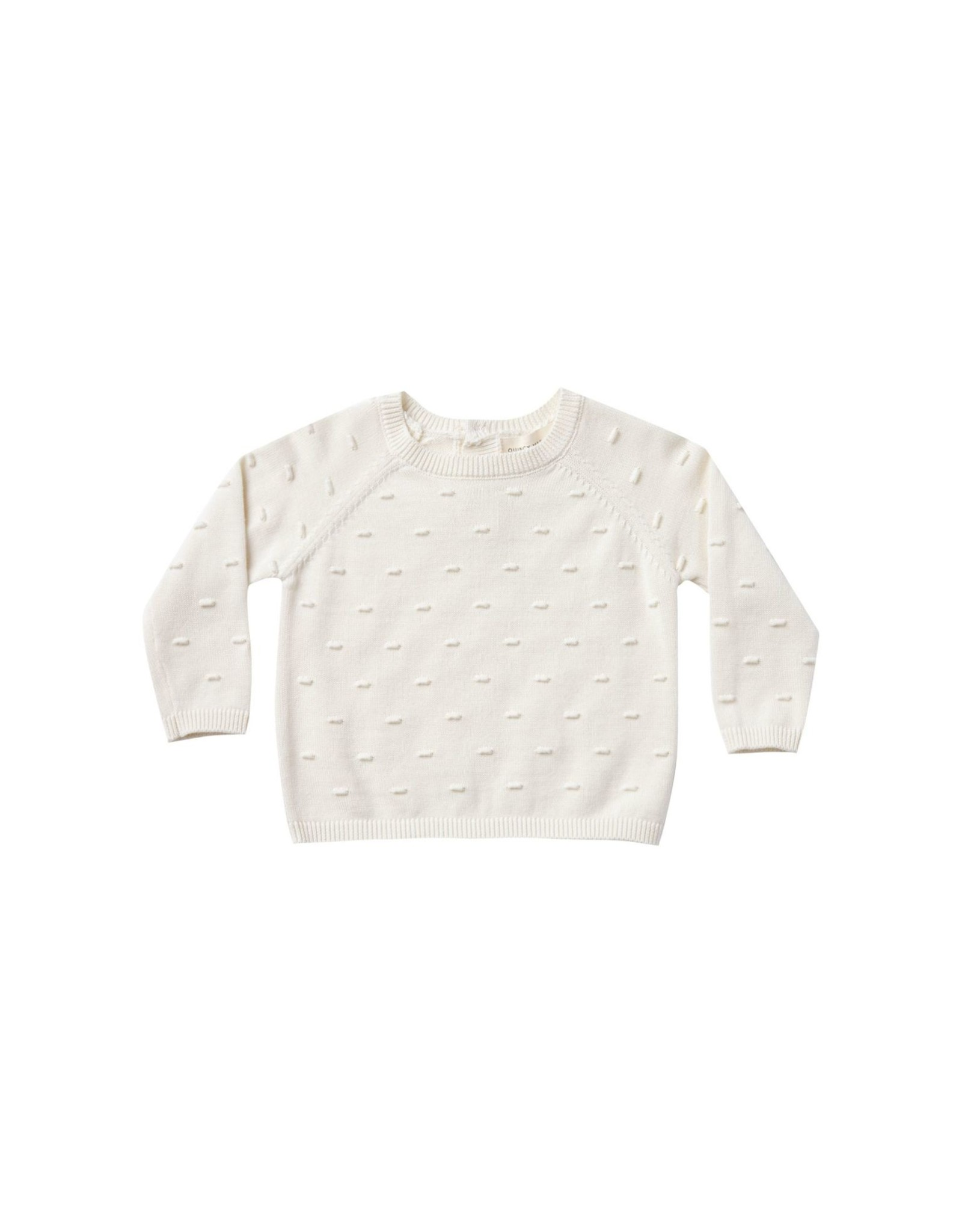 Quincy Mae bailey knit sweater- ivory