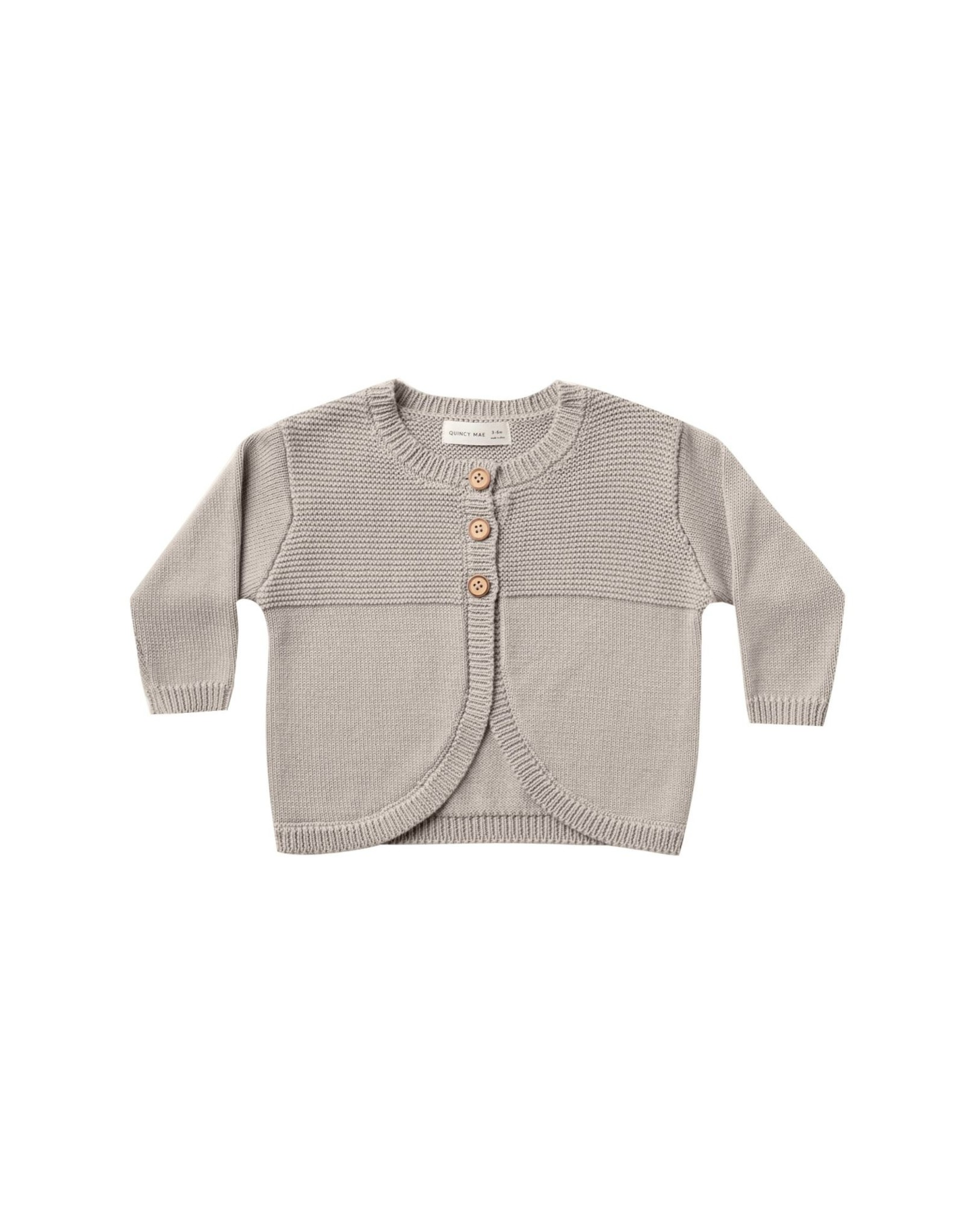 Quincy Mae knit cardigan- fog