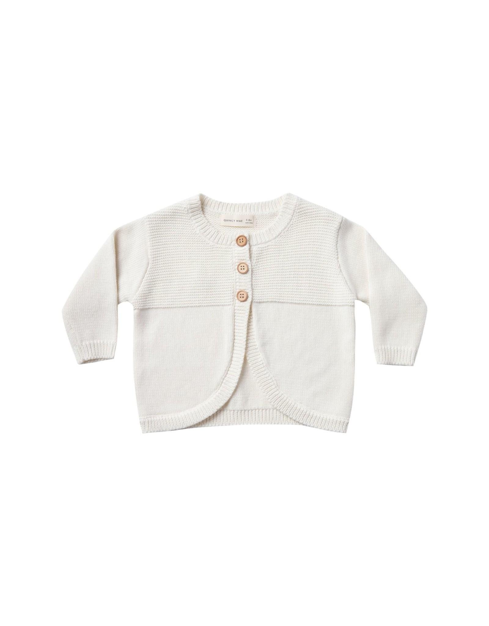 Quincy Mae knit cardigan- ivory
