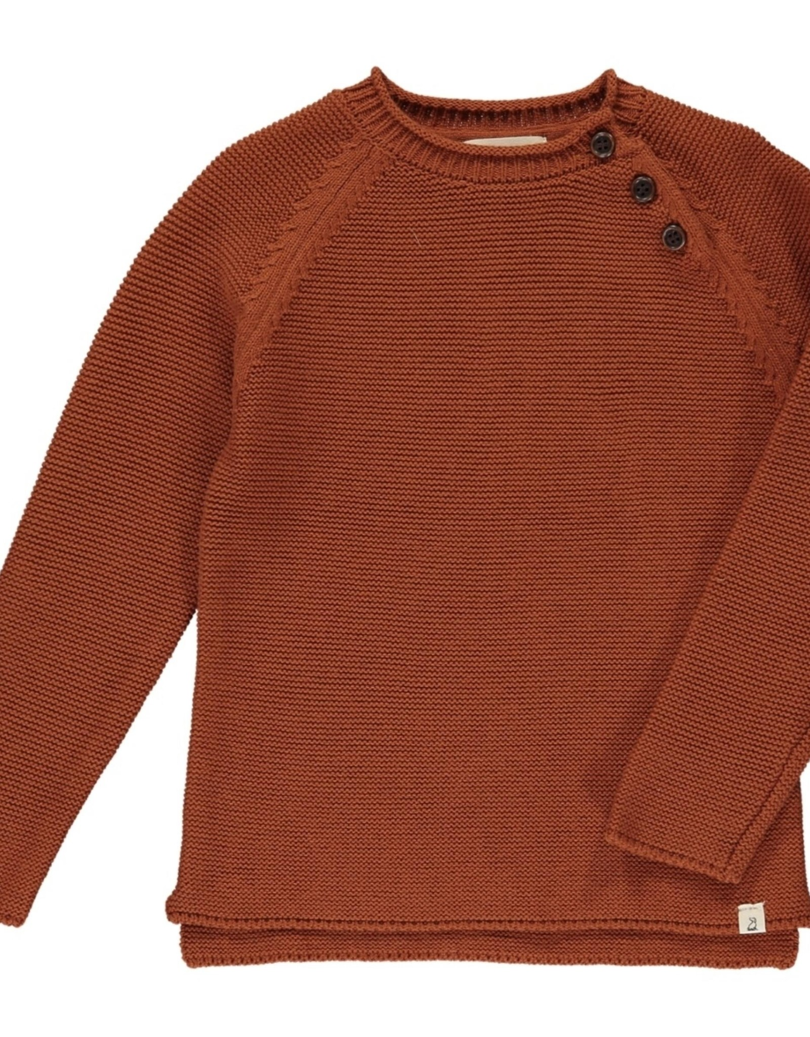 Me & Henry baby sweater- rust