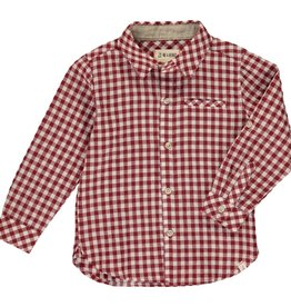 Me & Henry l/s button down- rust plaid