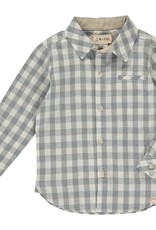 Me & Henry l/s button down- grey/white plaid