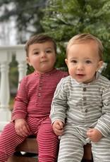 Me & Henry l/s jersey romper- grey stripe