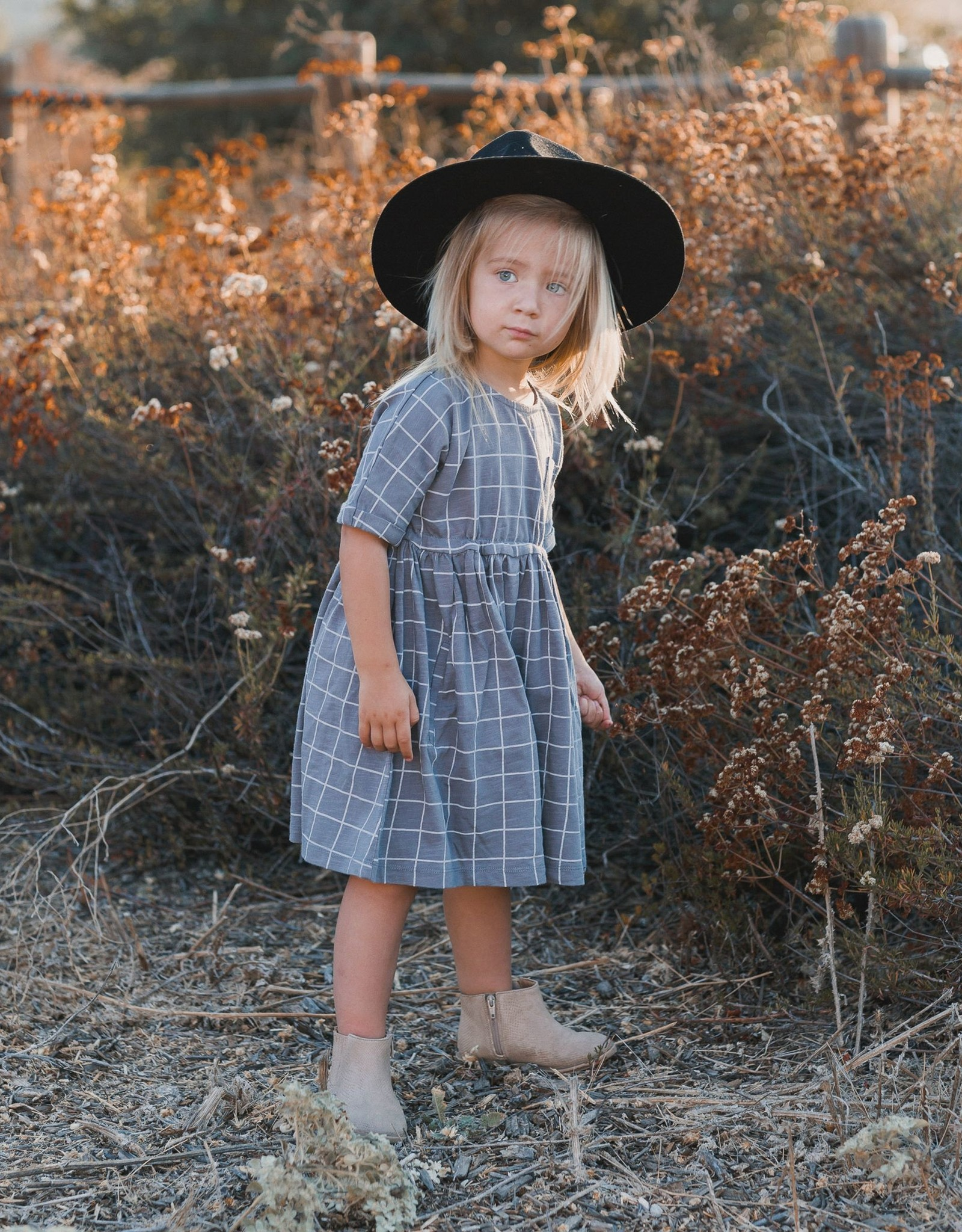 Rylee and Cru wavy check kat dress