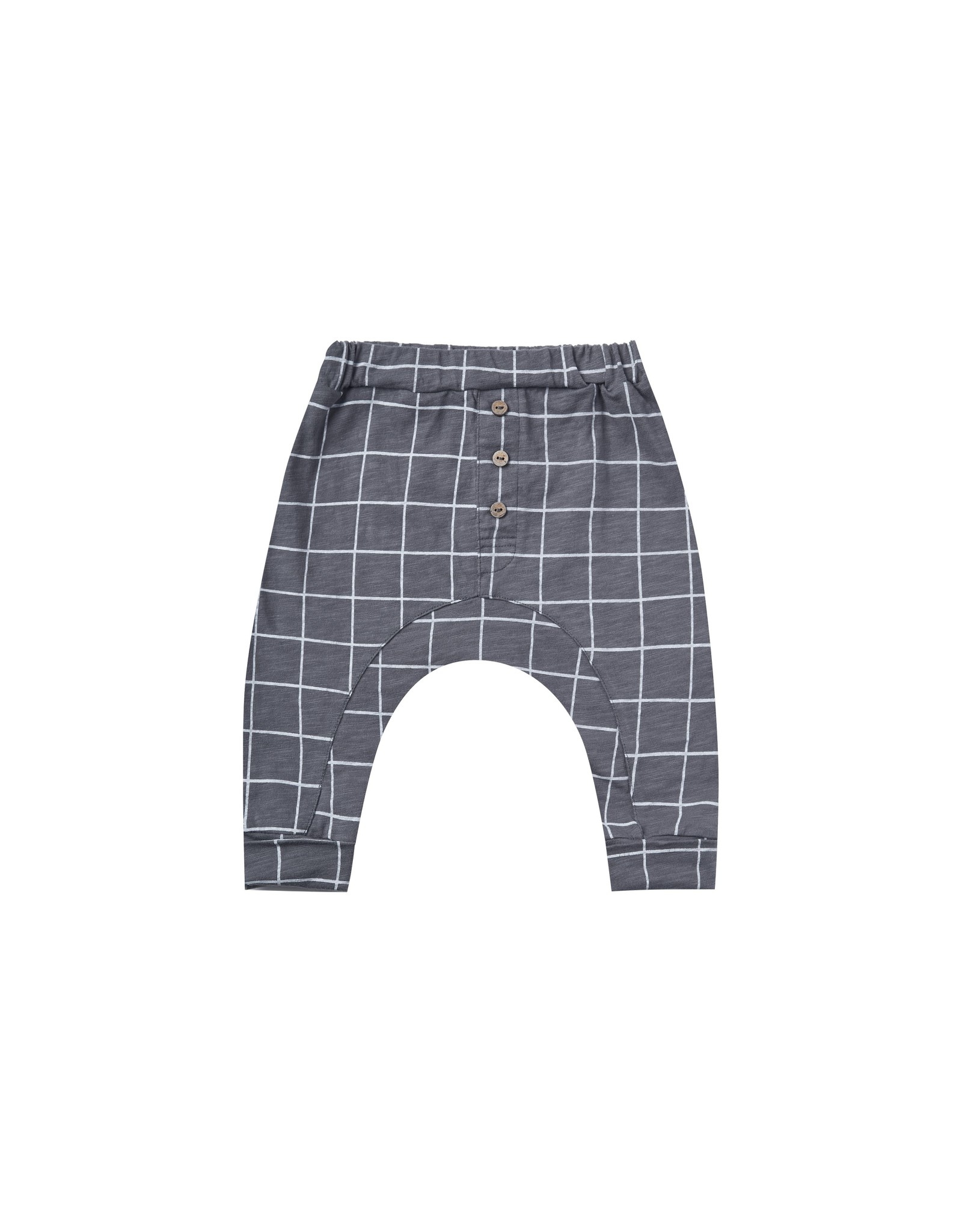 Rylee and Cru check slub pant- indigo
