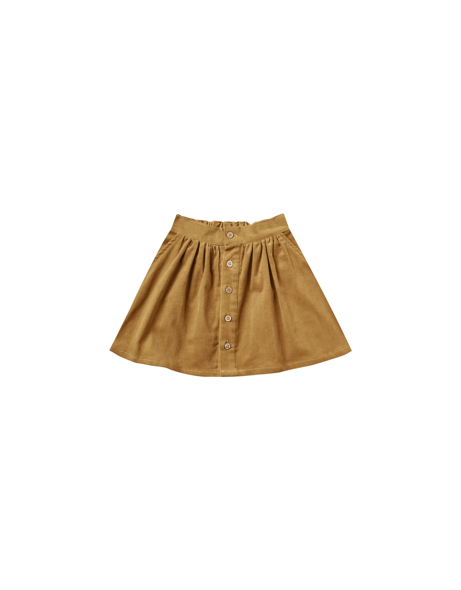 Rylee and Cru button front mini skirt- goldenrod