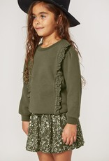 Rylee and Cru scarlet pullover- forest
