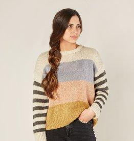 Rylee and Cru multi stripe aspen sweater