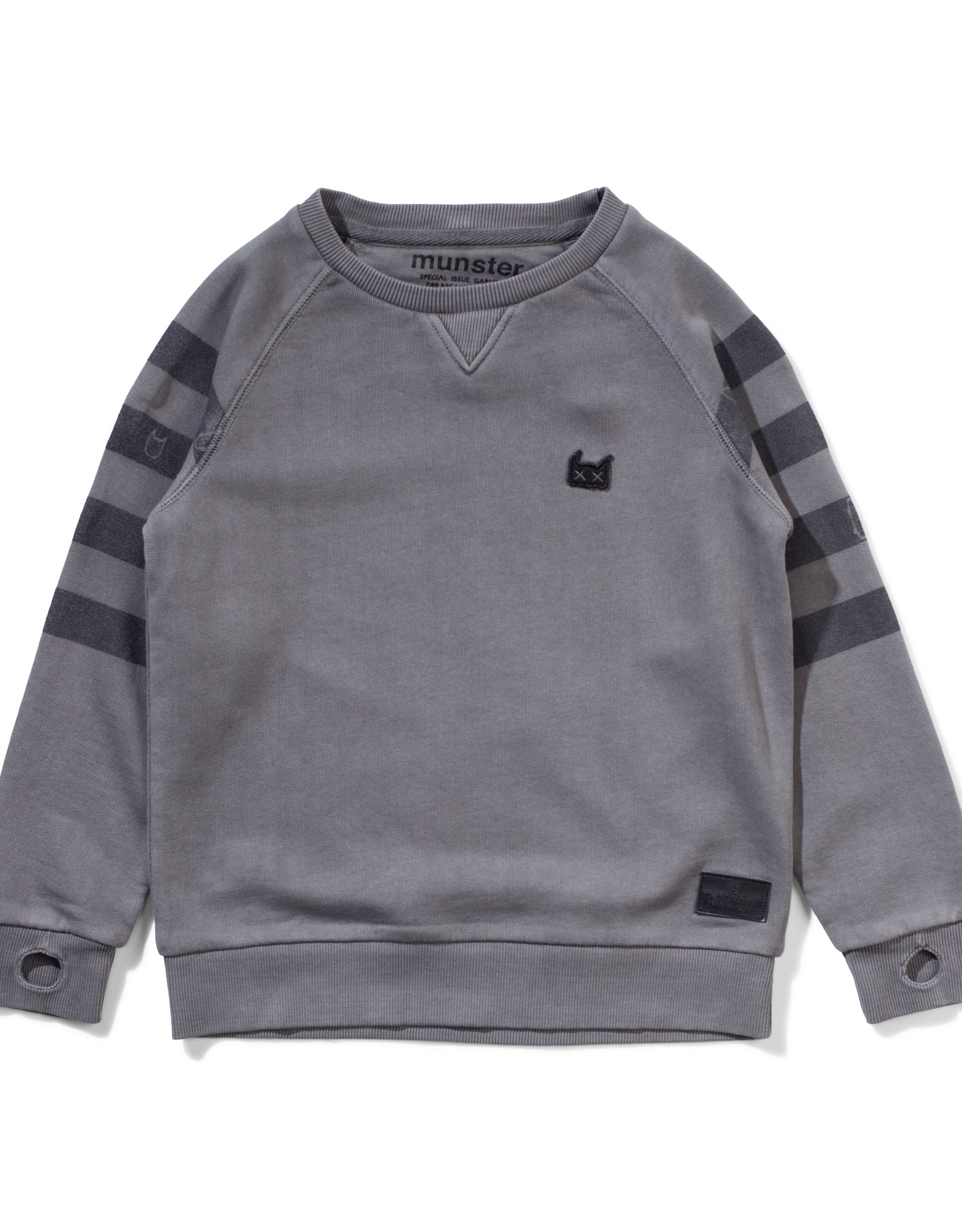 Munster Kids holiday crew- washed charcoal