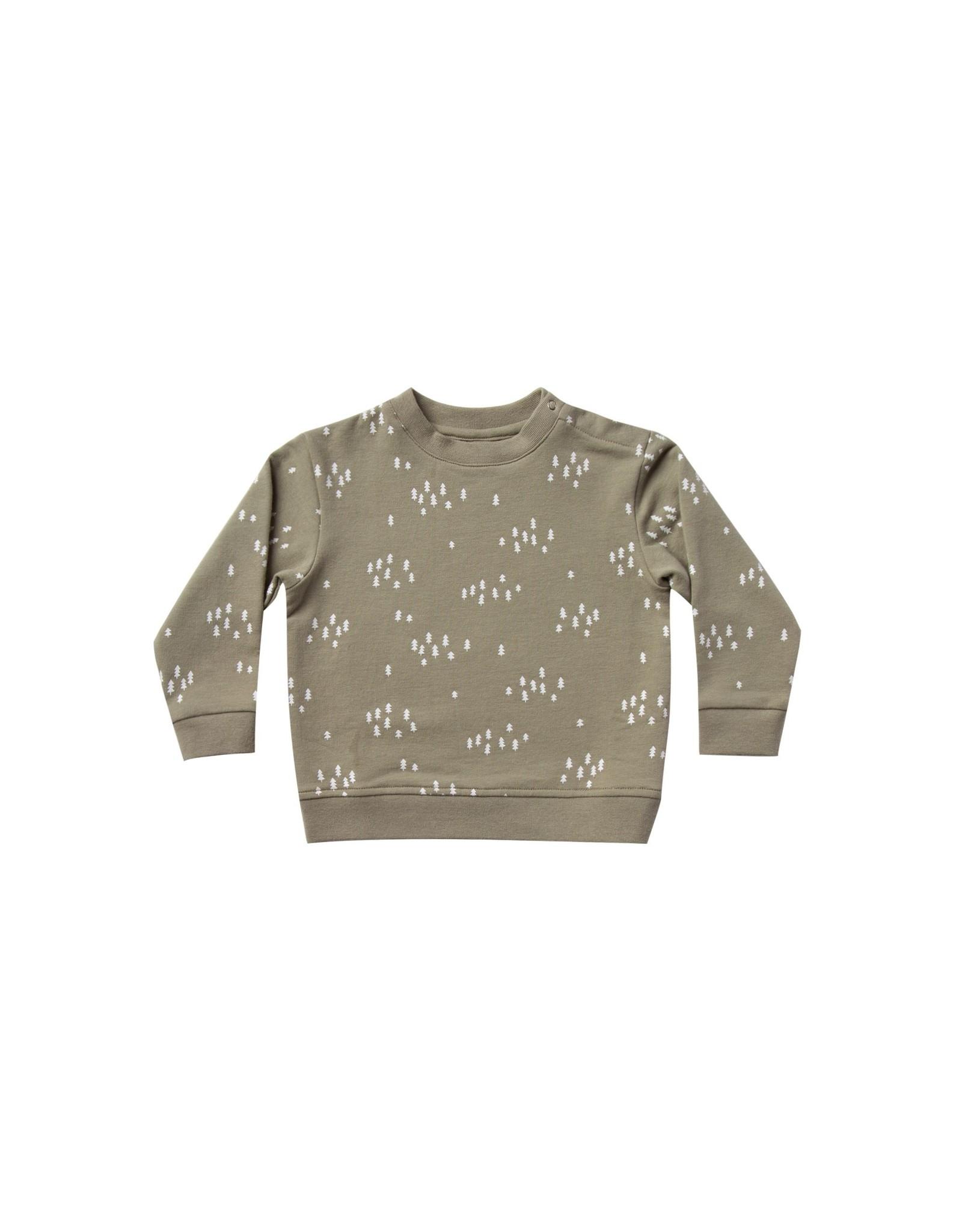 Quincy Mae fleece sweatshirt- olive