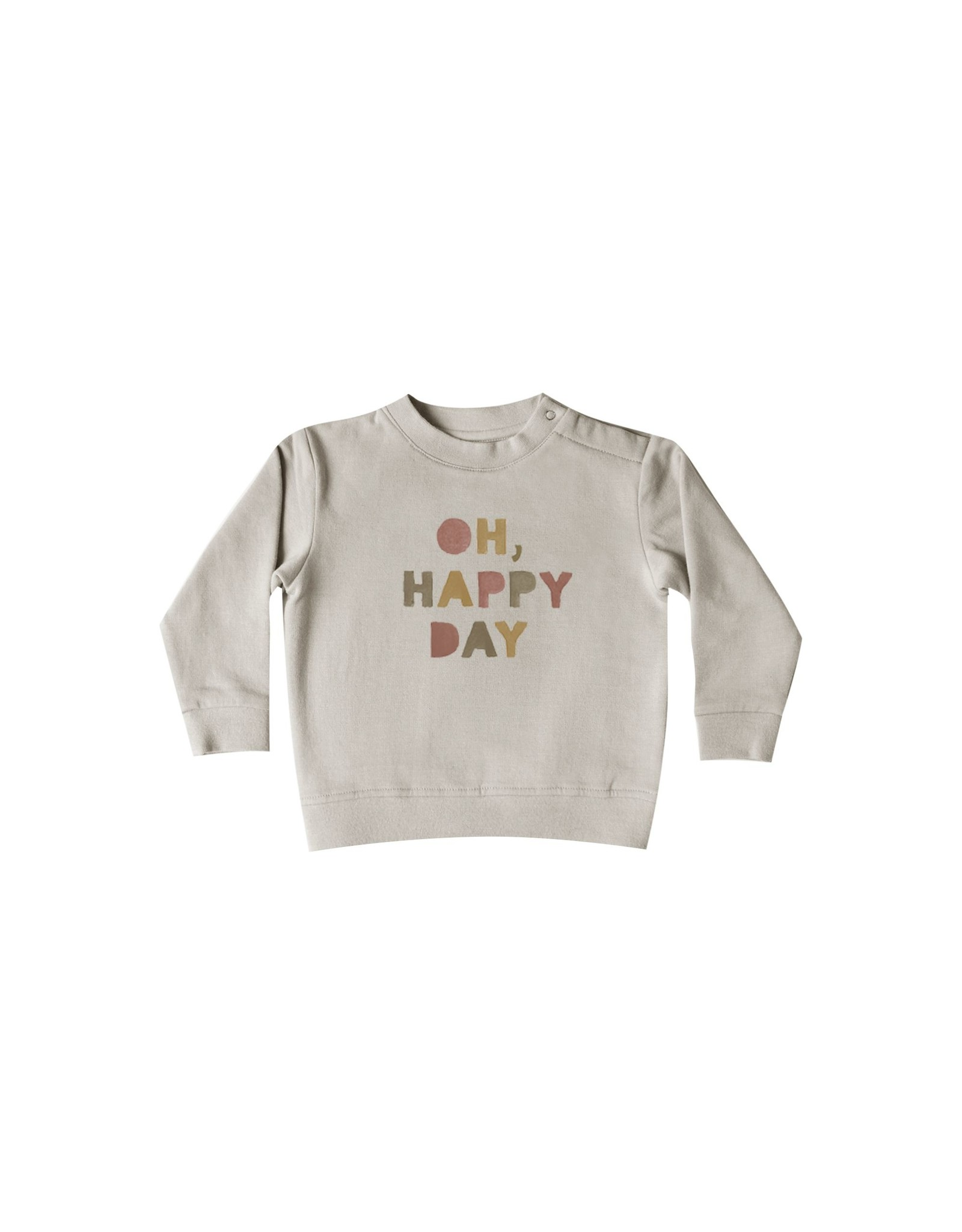 Quincy Mae fleece sweatshirt- fog