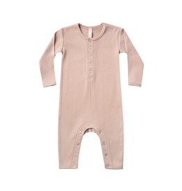 Quincy Mae ribbed jumpsuit- petal