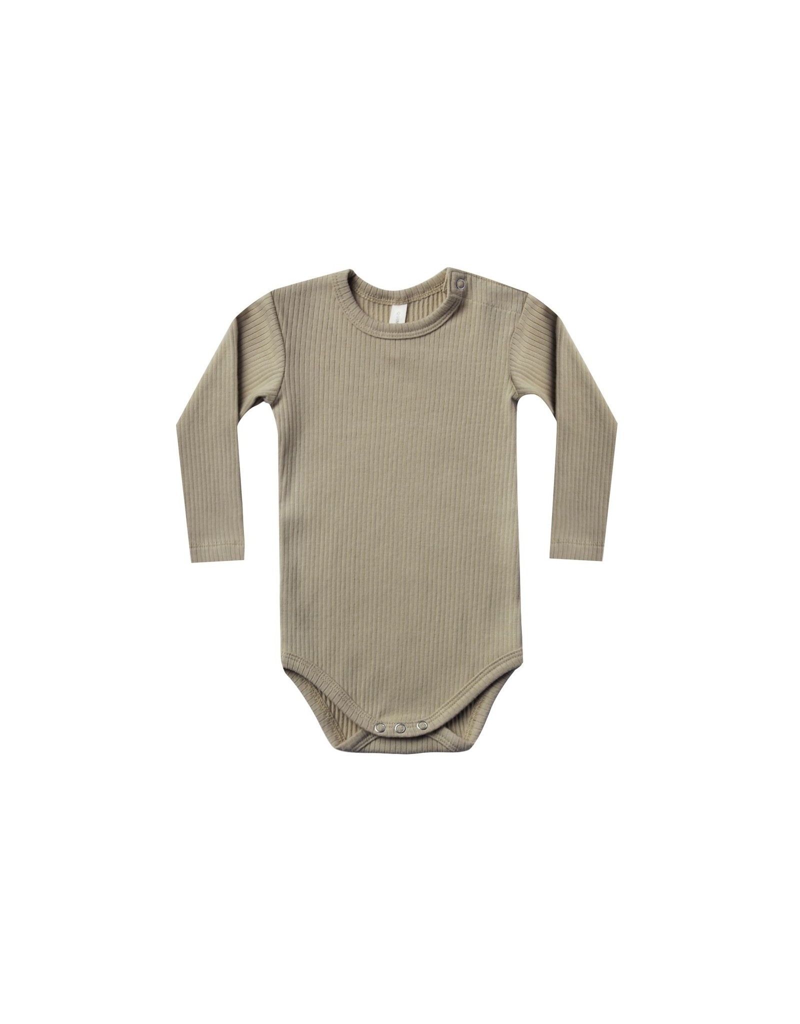 Quincy Mae ribbed l/s onesie- olive