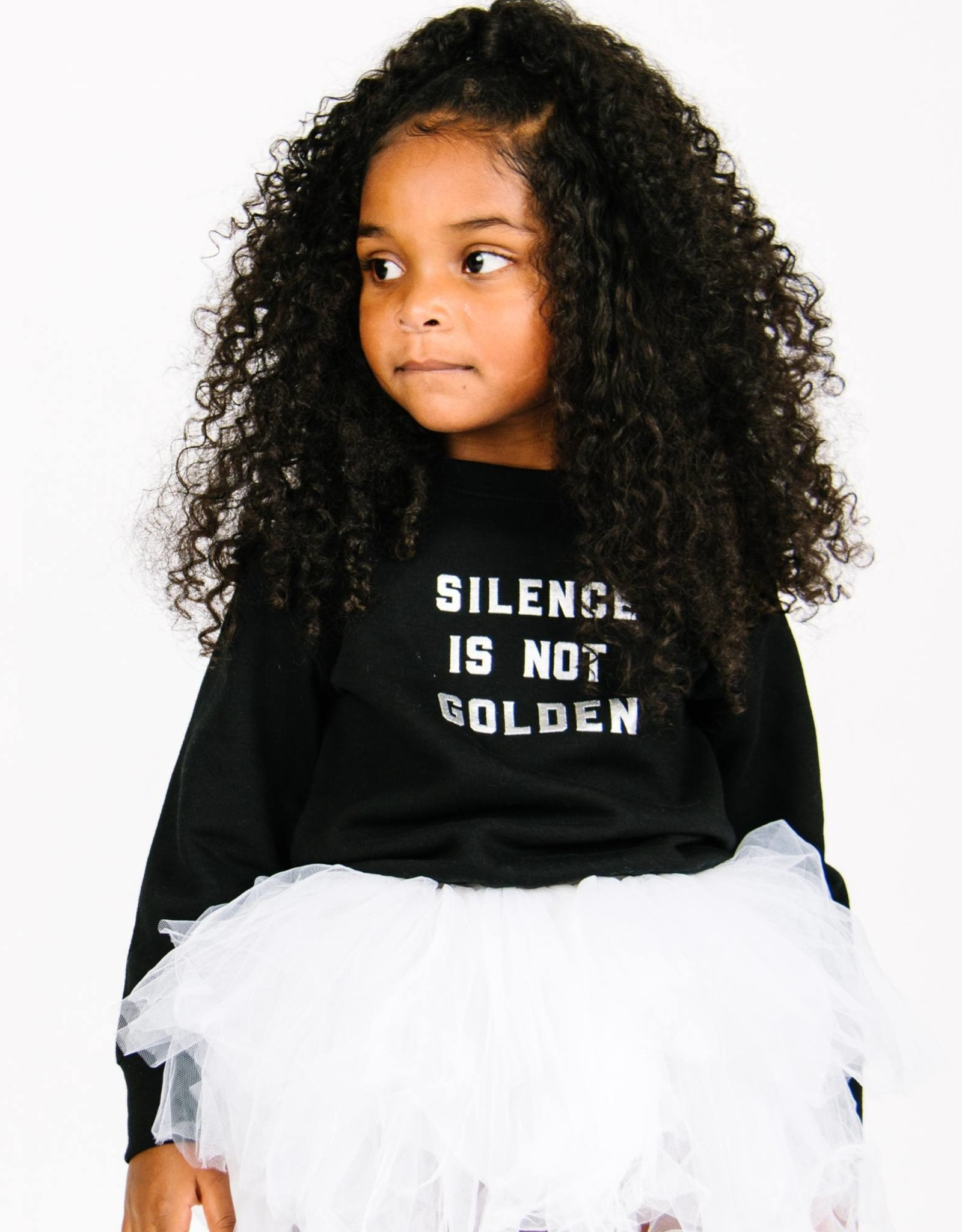 Love Bubby silence not golden pullover