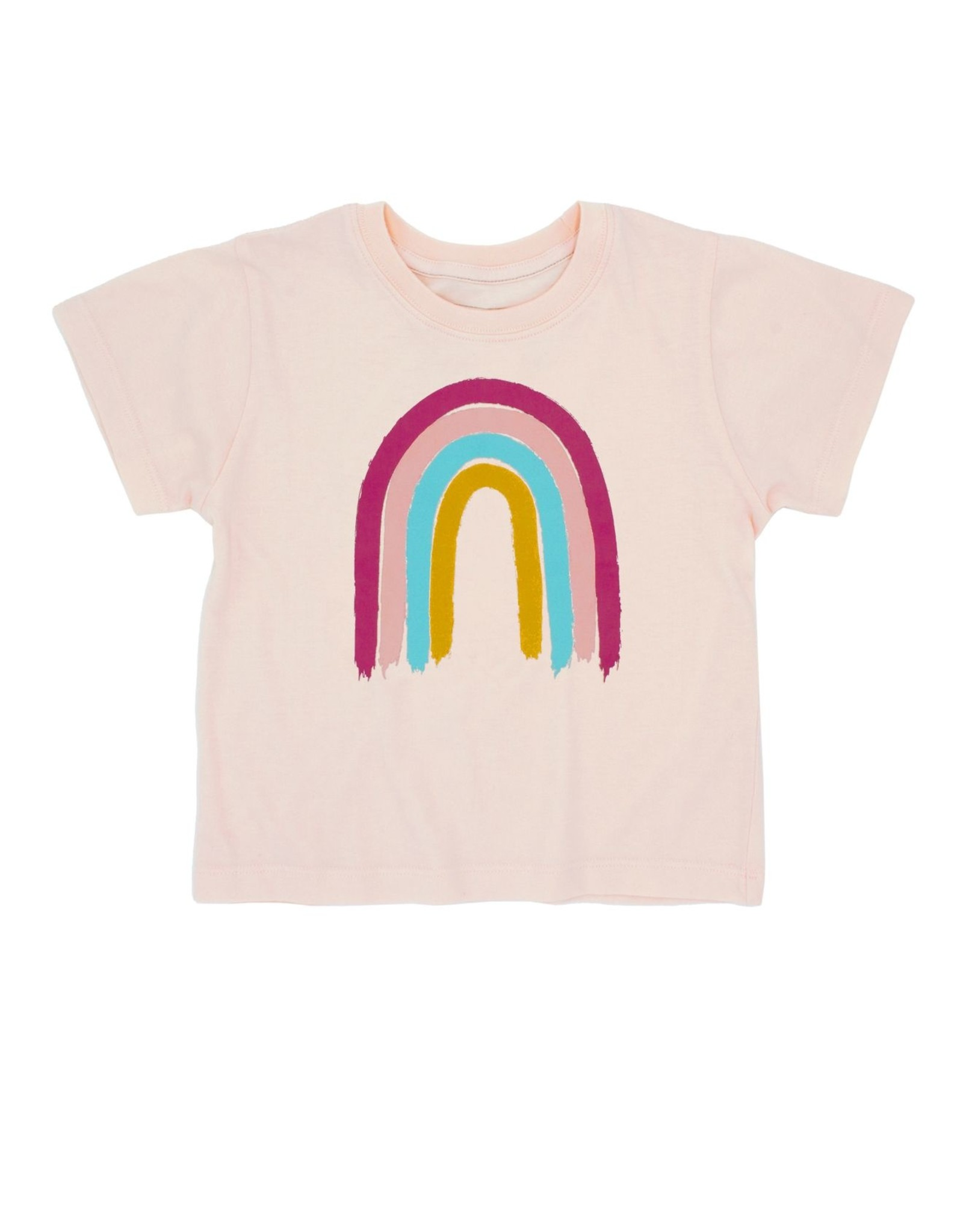 Feather 4 Arrow rainbow tee- sand