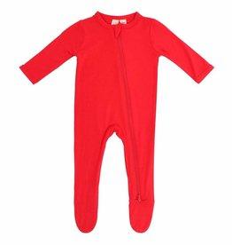 Kyte Baby zippered footie- crimson