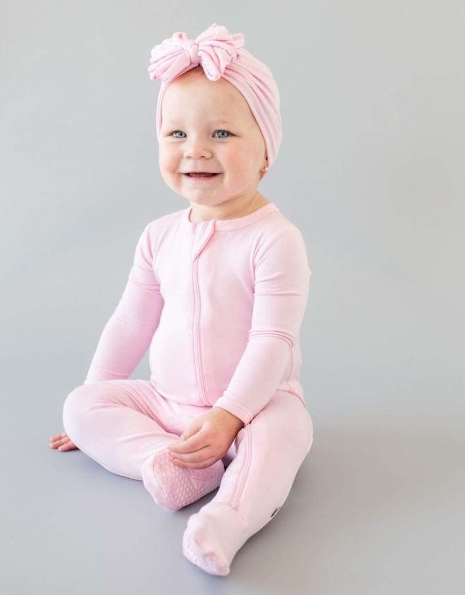 Kyte Baby zippered footie- peony