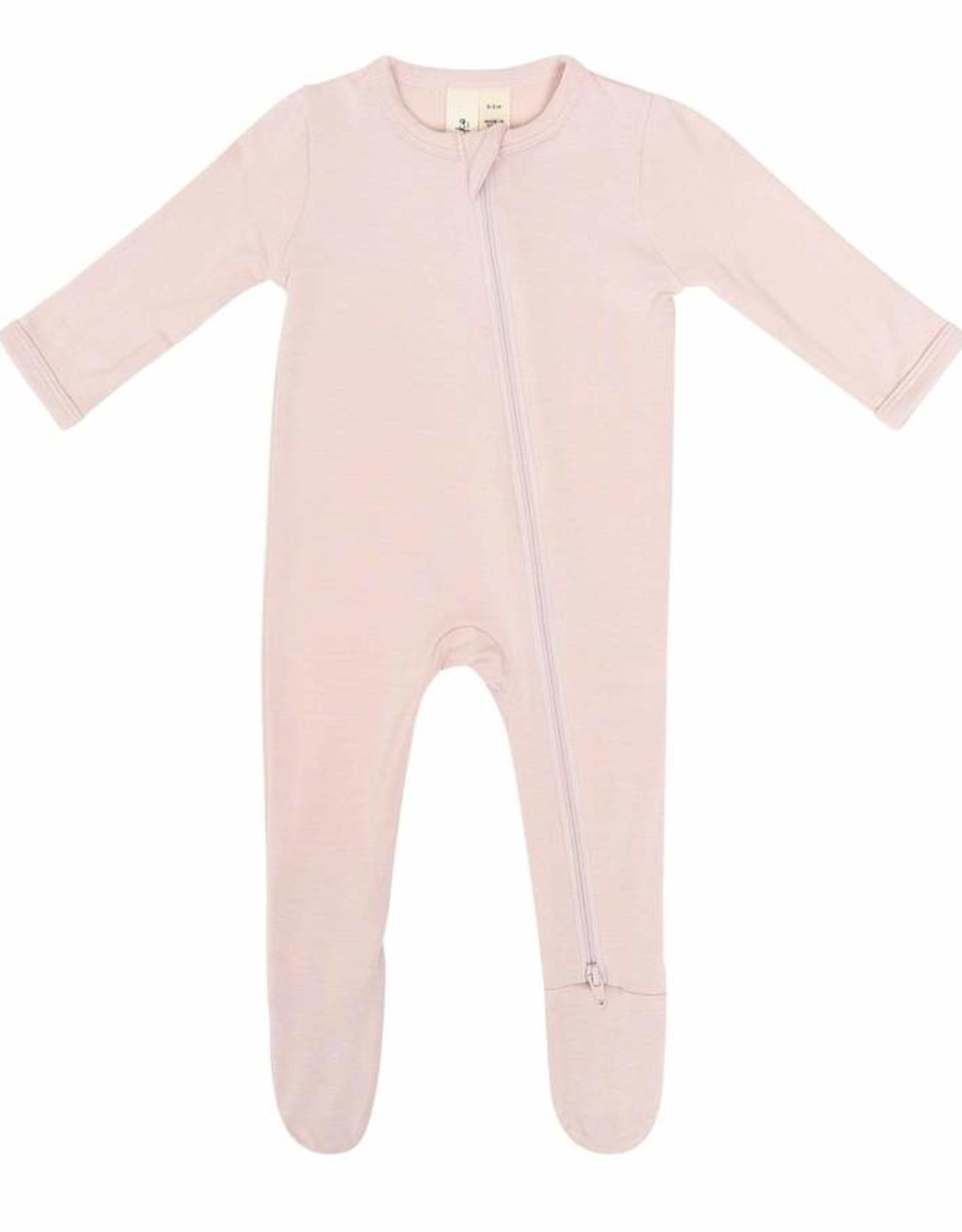 Kyte Baby zippered footie- blush