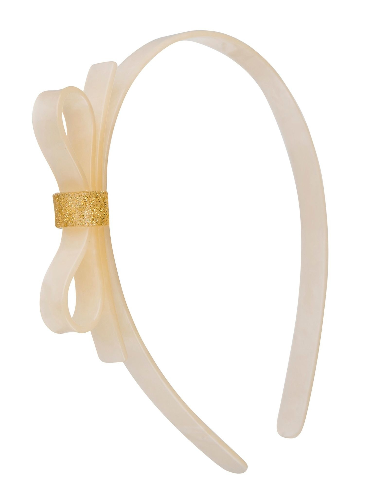 Lilies & Roses HB thin bow- pearlized white