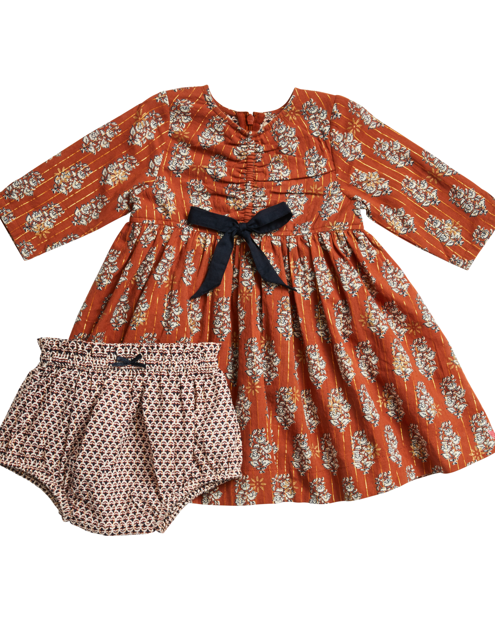 Pink Chicken lucy dress set- gingerbread vintage floral