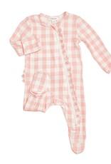 Angel Dear pink gingham footie