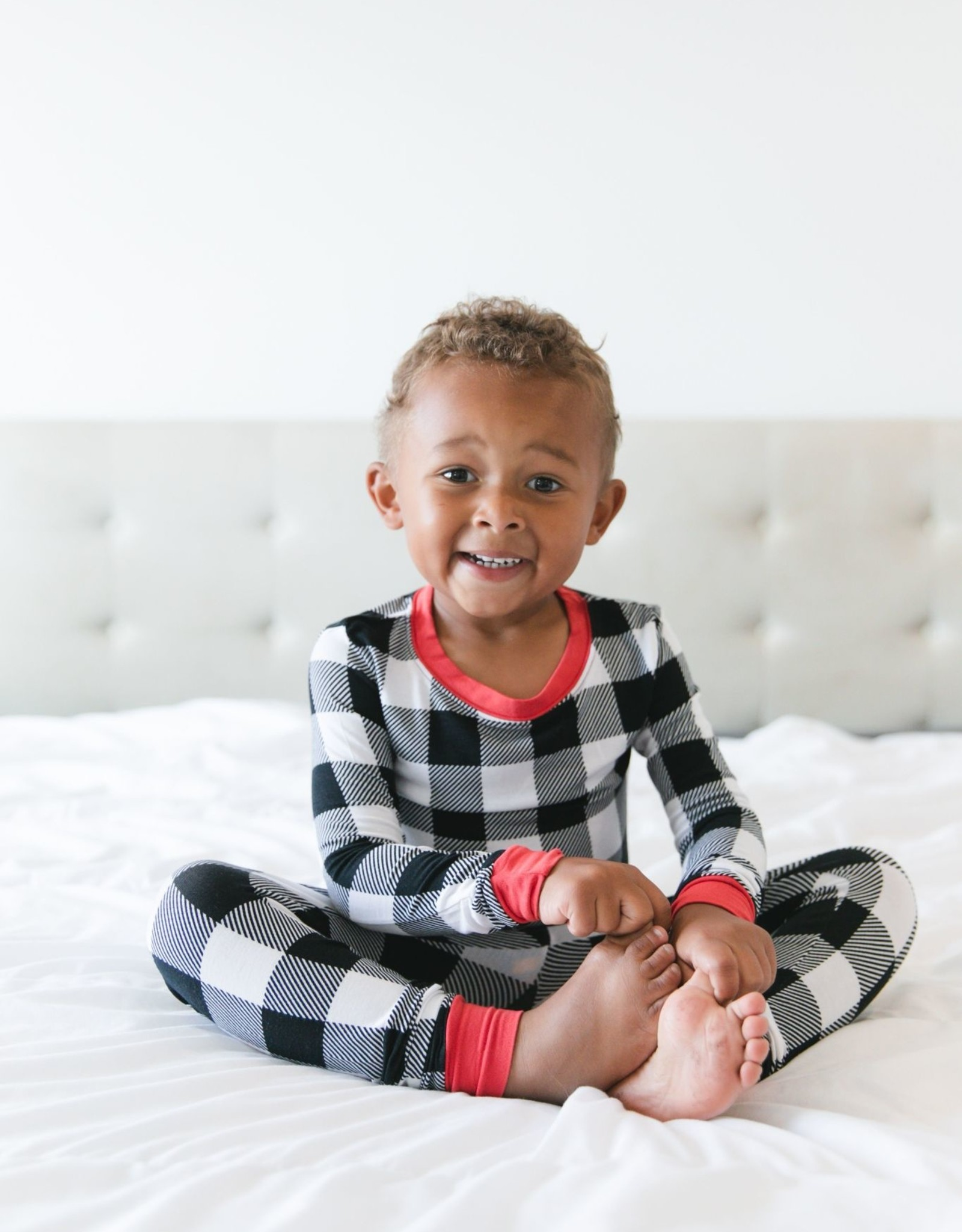 Little Sleepies buffalo plaid pajamas