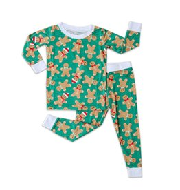 Little Sleepies green gingerbread pajamas