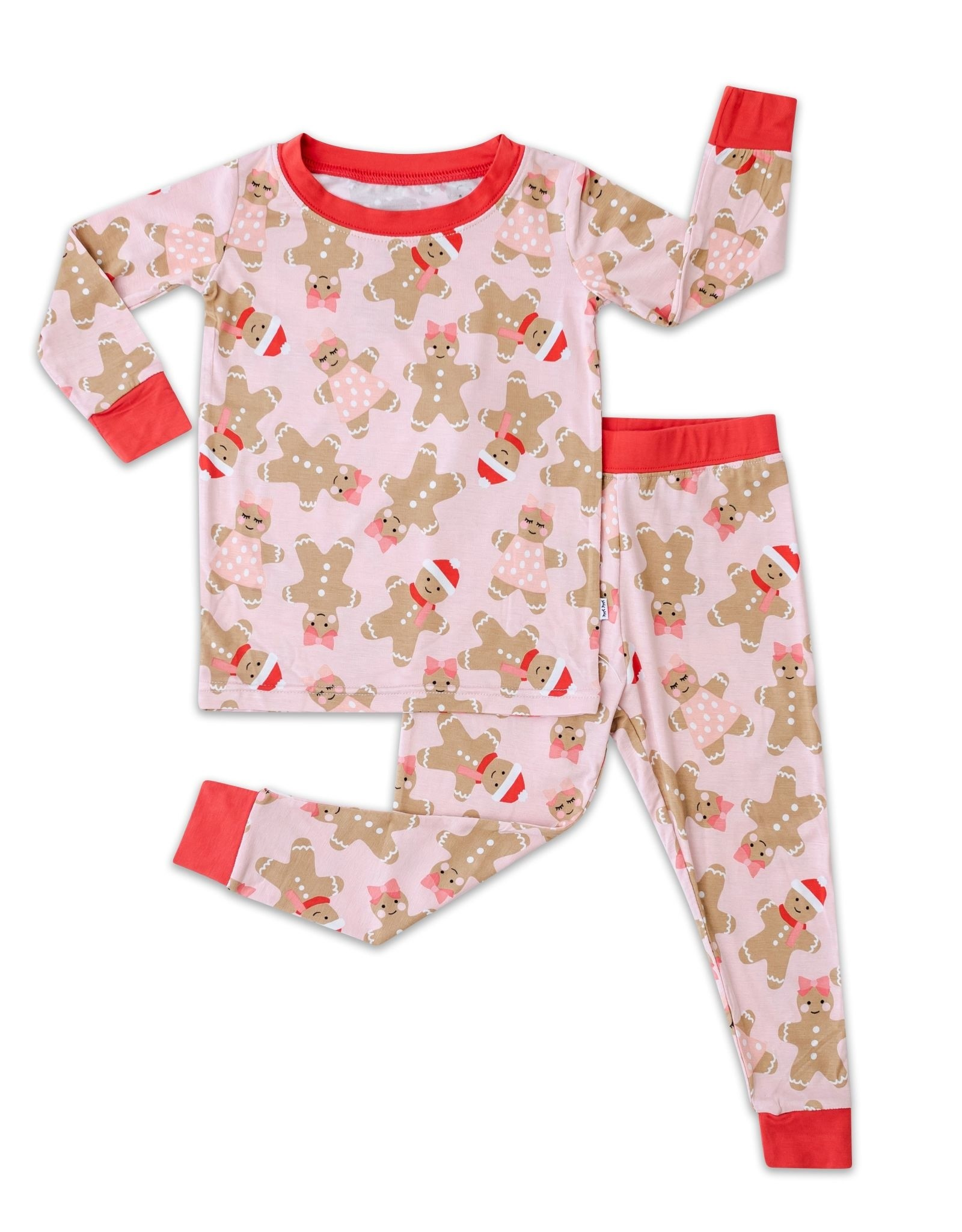 Little Sleepies pink gingerbread pajamas