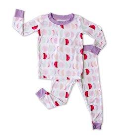 Little Sleepies mauve luna pajamas
