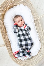 Little Sleepies knotted gown buffalo plaid