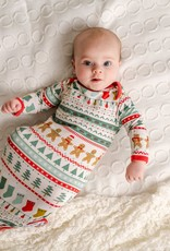Little Sleepies knotted gown fair isle