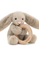 Jellycat bashful beige bunny wooden ring