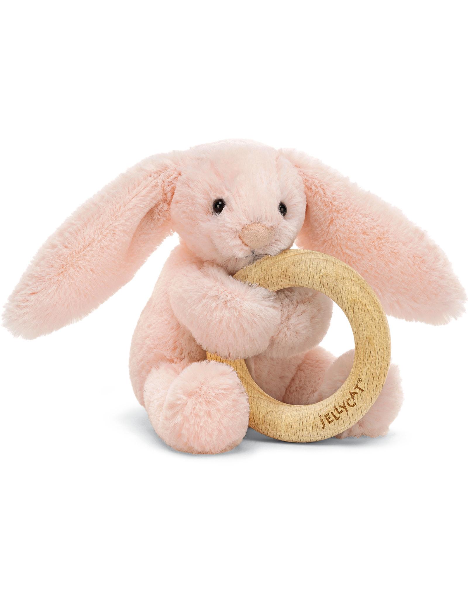 Jellycat bashful blush bunny wooden ring