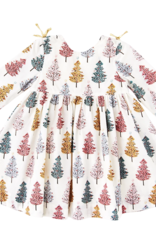 Pink Chicken sheila dress- christmas trees
